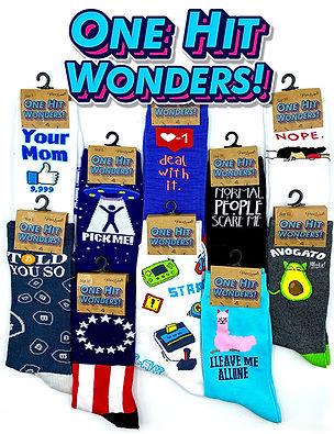 One Hit Wonders Adult Socks Selection.jp