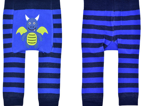 Blue Dragon Boogie Tights Baby Diaper Pants