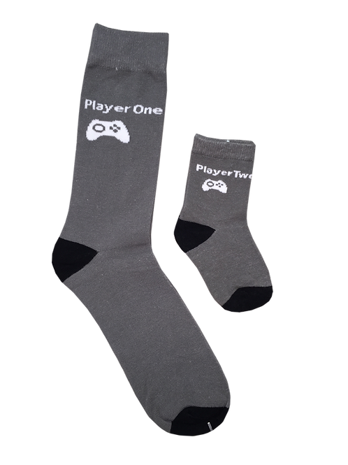 Daddy and Me Socks, Player One /Player Two - Wholesale