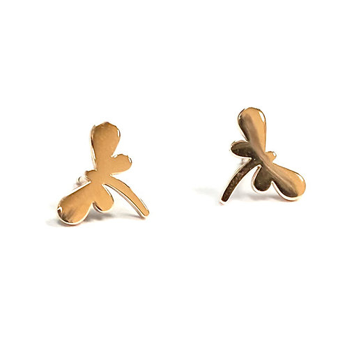 Dragonfly Boogie Lobes Earrings - Rose Gold / Stainless 316 - Wholesale