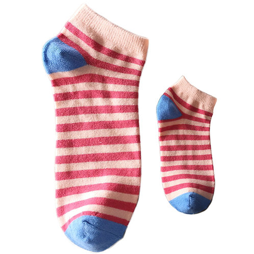 Mommy and Me Matching Socks, Pink Stripes - Wholesale