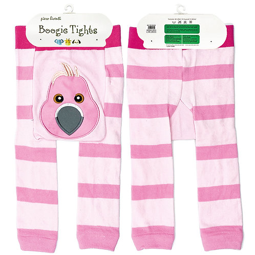 Pink Flamingo Boogie Tights Baby Leggings