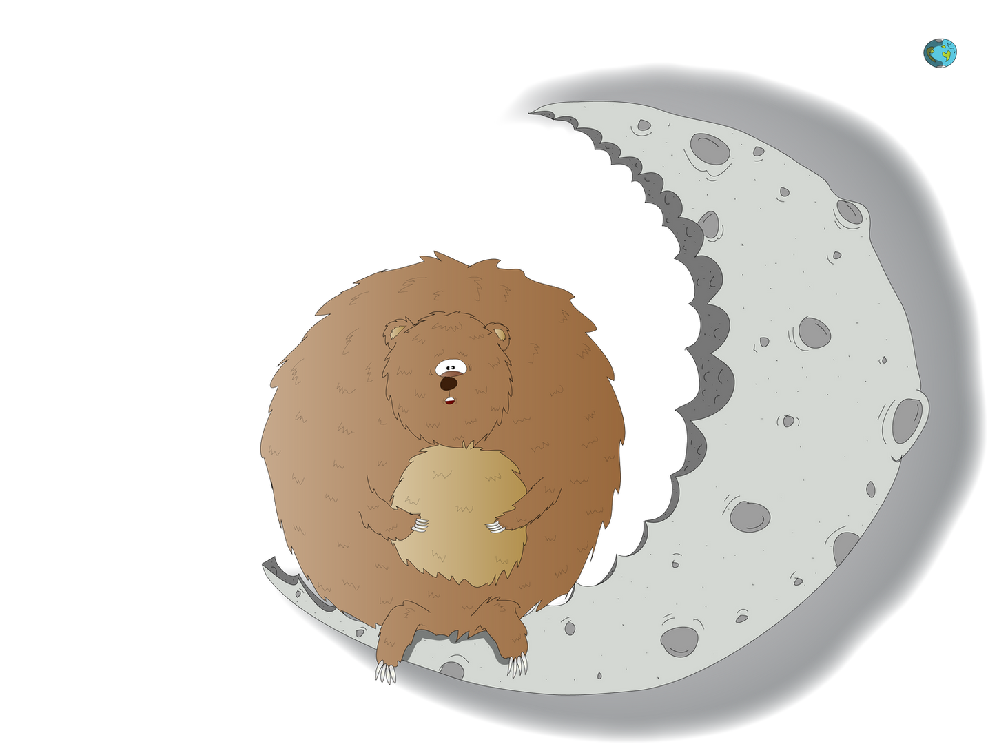 The Hungry Hamster sat on the Moon!