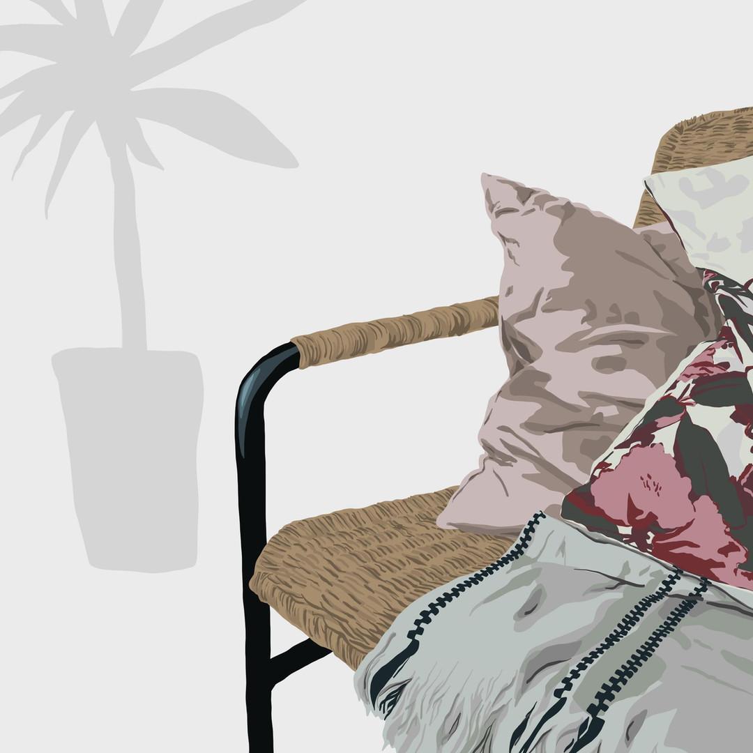 Chair & Cushions