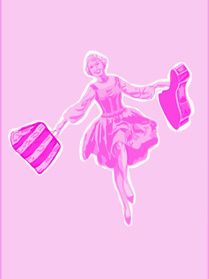 Pink Mary Poppins Woman