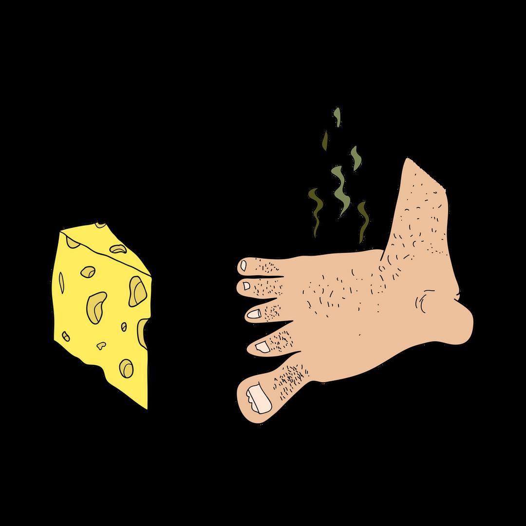 A Cheesy Foot