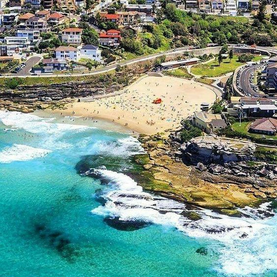 Tamarama Rocks to the right in this photo