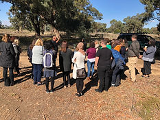 Staff from regional community legal centres taking a tour of Terramungamine Reserve.