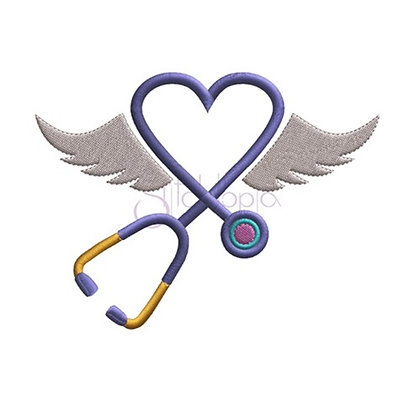Stethoscope with Wings