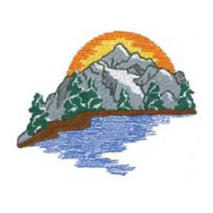 Mountain with River