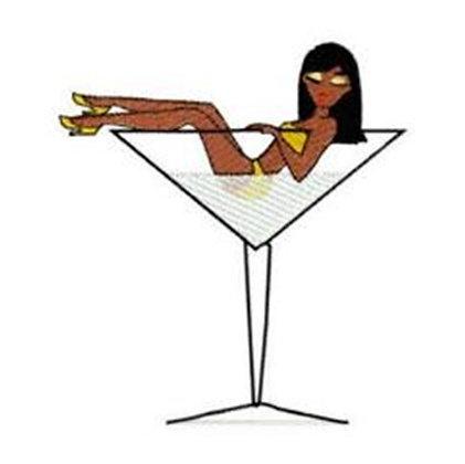 Lady in Martini Glass