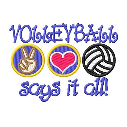 Volleyball Says It All