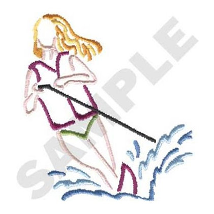 Water-Skier Outline