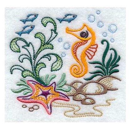 Seahorse Ocean Scene