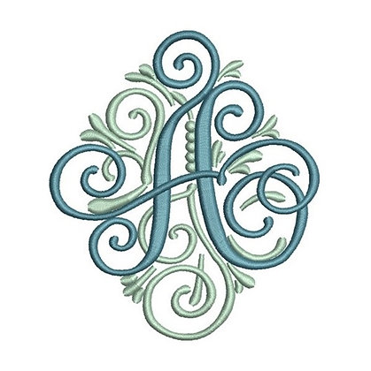 Single Letter Adorn Monogram