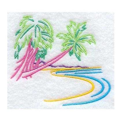 Tropical Palm Tree Island