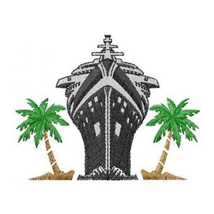 Ship & Palm Trees