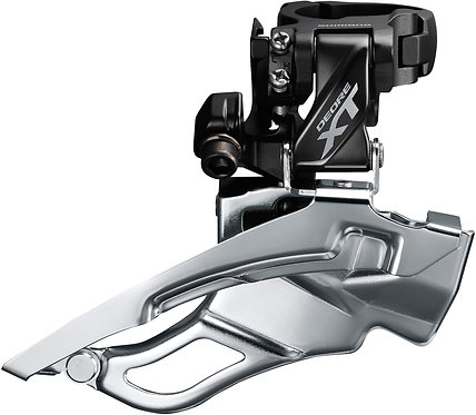 Shimano XT T8000 Triple Front derailleur 10-speed Conventional Swing 63-66