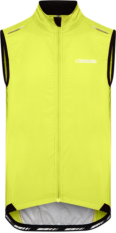 Madison Sportive Men's Windproof Gilet Yellow