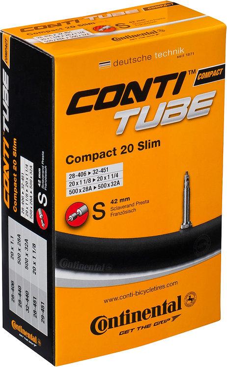 Continental Compact 20 x 1 1/4 - 1.75 Inch Presta Inner Tube