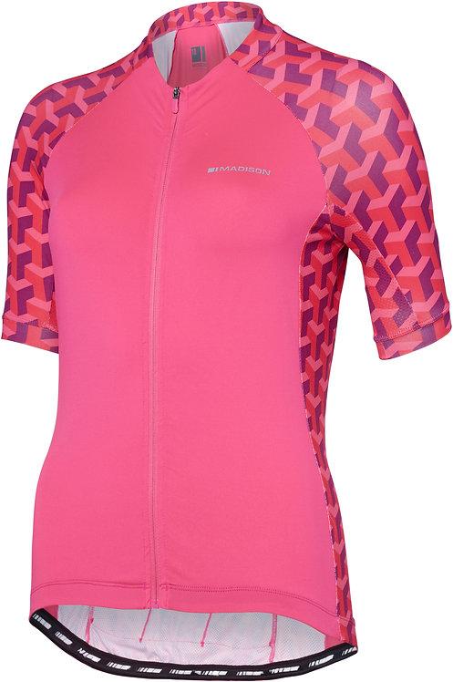 Madison Sportive Womens Short Sleeve Jersey Pink