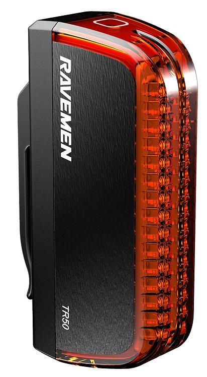 Raveman TR50 USB Rechargeable Rear Light in Black (50 Lumens)