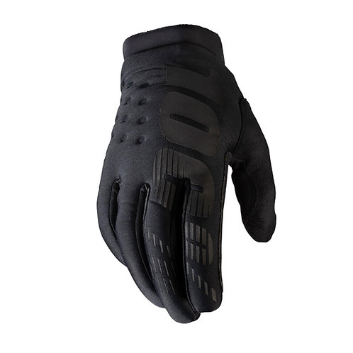 100% Brisker Cold Weather Glove Black/Black