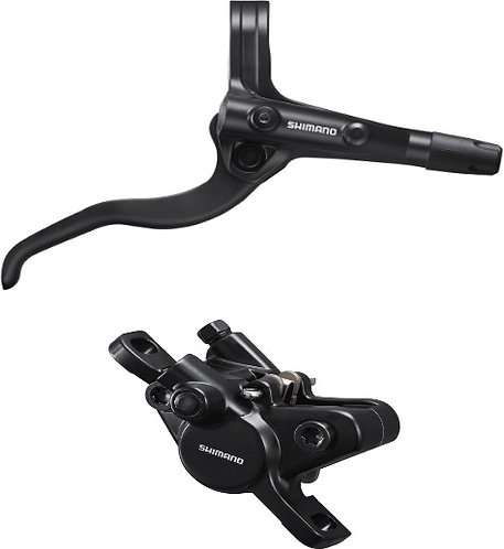 Shimano BR-MT400 / BL-MT400 Bled Brake Lever/Post Mount Calliper Black Front