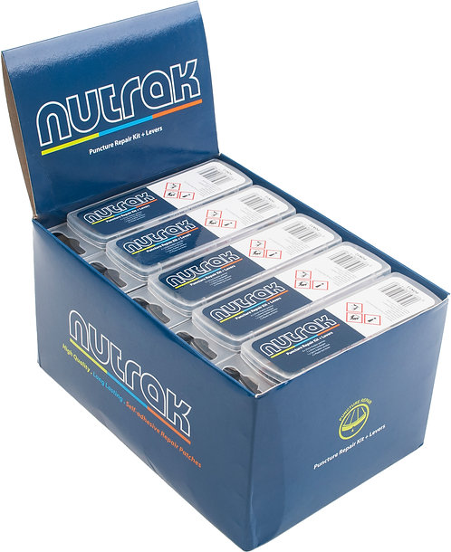 Nutrak Puncture Repair Kit Including Tyre Levers Single