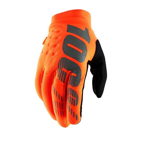 100% Brisker Cold Weather Glove Fluo Orange