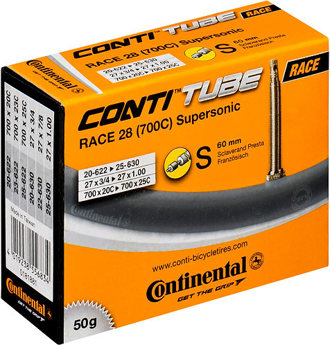Continental R28 Supersonic 700 x 20 - 25C Presta 60mm valve inner tube