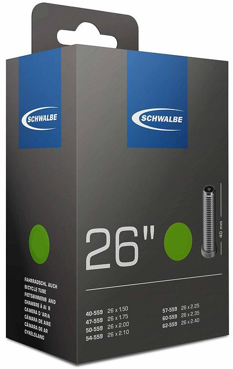 Schwalbe AV13 Inner Tube 26 x1.50 / 2.50'' Schrader Valve 40mm