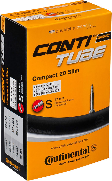 Continental Compact tube 20 x 1 1/4 - 1.75 inch Schrader Valve Inner Tube