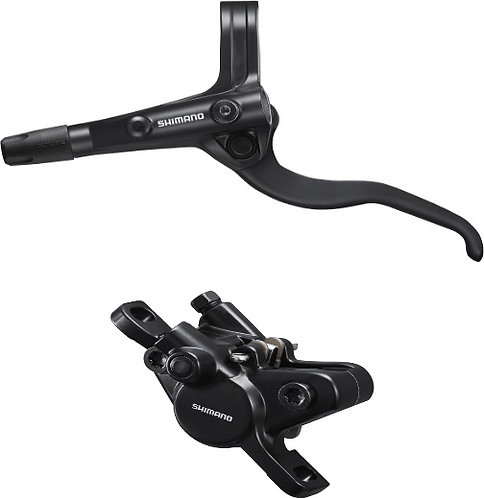 Shimano BR-MT400 / BL-MT400 Bled Brake Lever/Post Mount Calliper Black Rear