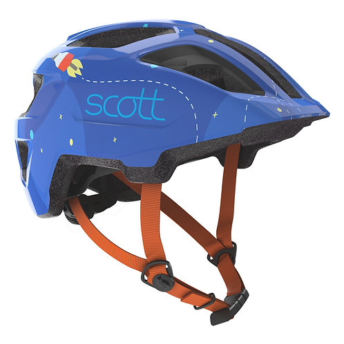 Scott Spunto Kid Helmet Blue/Orange Rockets
