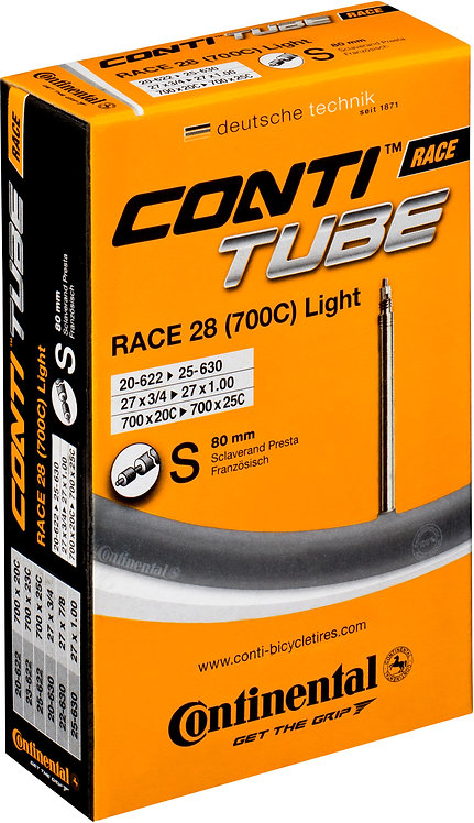 Continental R28 Light 700 x 20 - 25C Presta 80mm Extra Long valve inner Tube