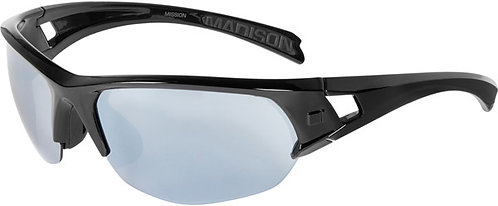 Madison Mission Glasses Gloss Black frame Silver Mirror Lens