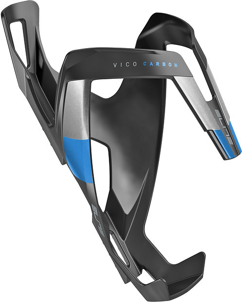Elite Vico carbon Bottle Cage Matt Black / Blue