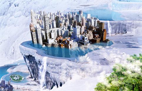 Photomontage Manhattan piscine
