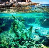 Photomontage Under the sea
