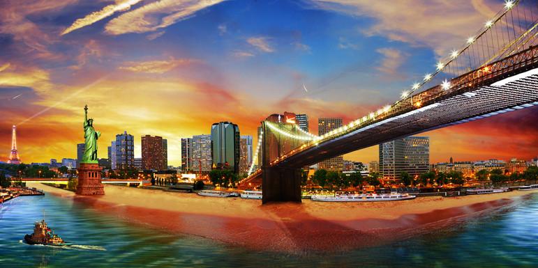 Photomontage Paris-Brooklyn