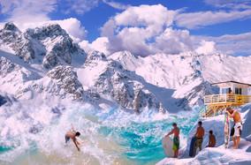 Photomontage Montagne liquide