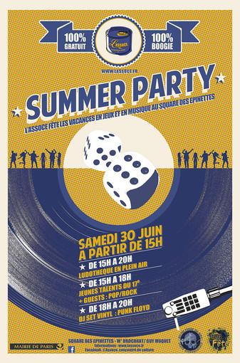 Affiche Summer party 2018