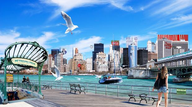Photomontage NY City Beach