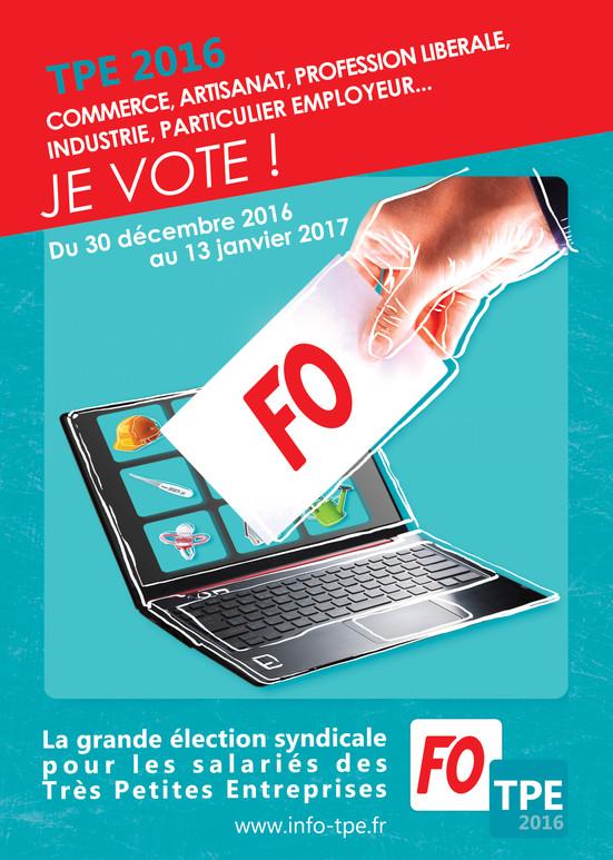 Affiche TPE 2016 Je Vote
