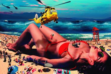 Photomontage Miss Gulliver