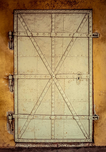 Interieurfotografie, alte Türe