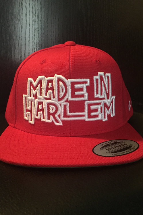 Made in Harlem Snapback (Red)