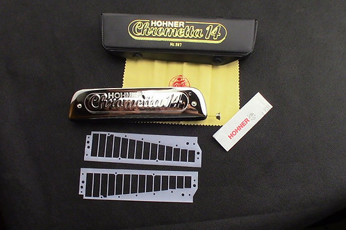 New Hohner Chrometta 14 Chromatic with gaskets