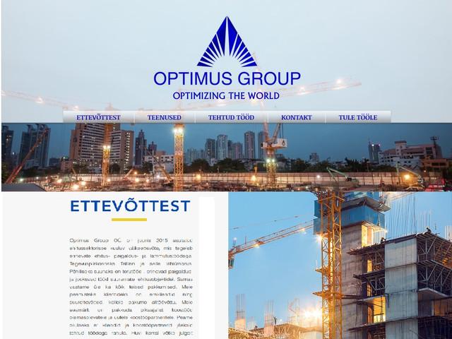 Optimus Group website design